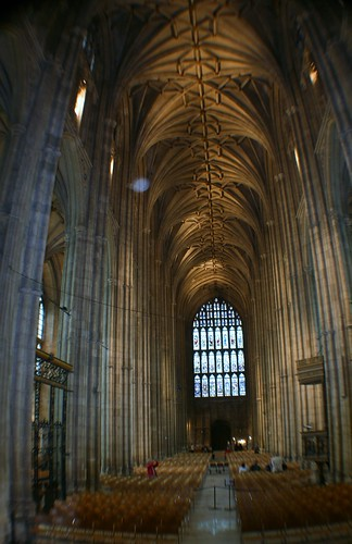 Nave at Canterbury Cathedral, England