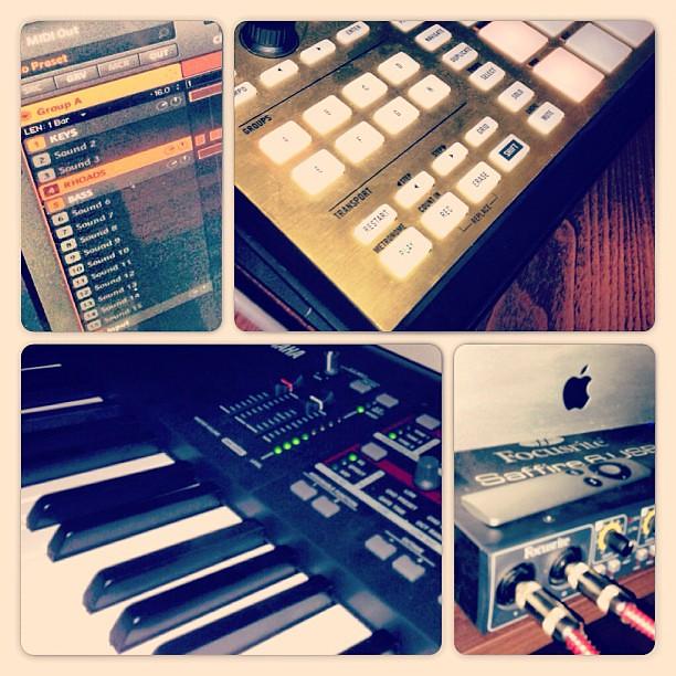 keyboard #mac #homestudio #maschine #maschinemk2 #focusri