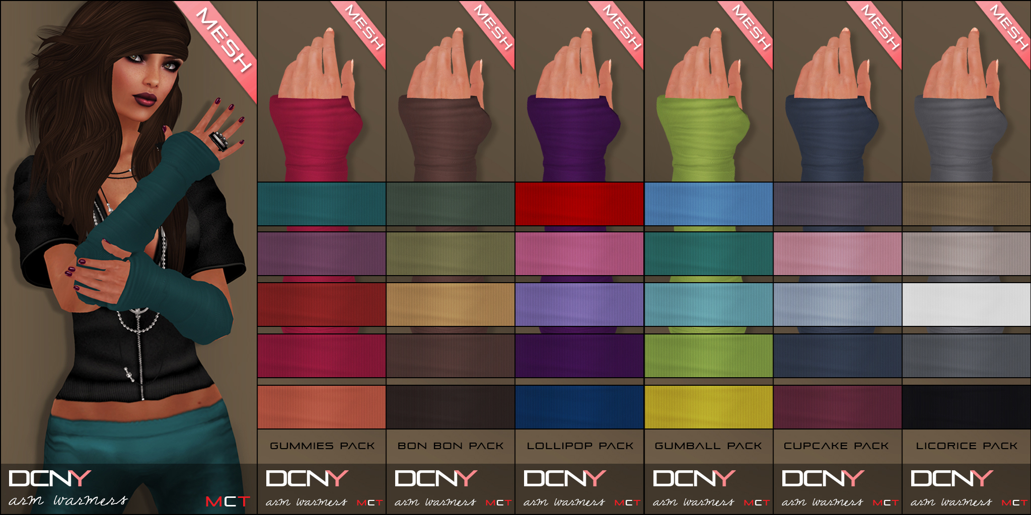 DCNY Arm Warmer Color Packs