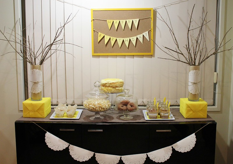 Yellow Dessert Table