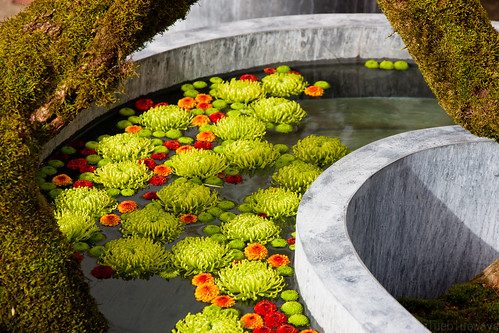 Flower design by Daniël Ost in the Japanese garden