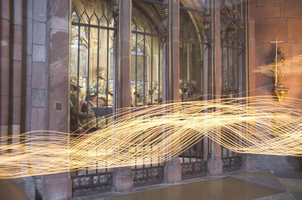 Creatively moving exposure of a german church
