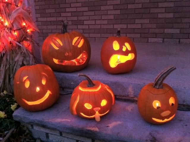 Friend's Carved Jack-o-Lanterns
