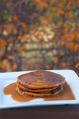 Pumpkin Pancakes with Cinnamon Syrup from Butercream Lane Blog
