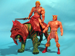 He-Man, Battle Cat and Bwana Beast for Scale