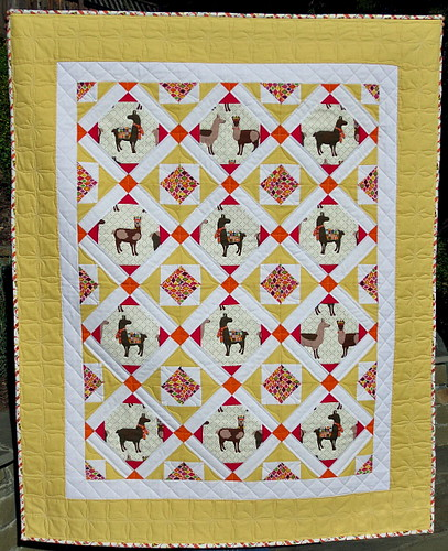 "My new quilt pattern ""Llama Love"""