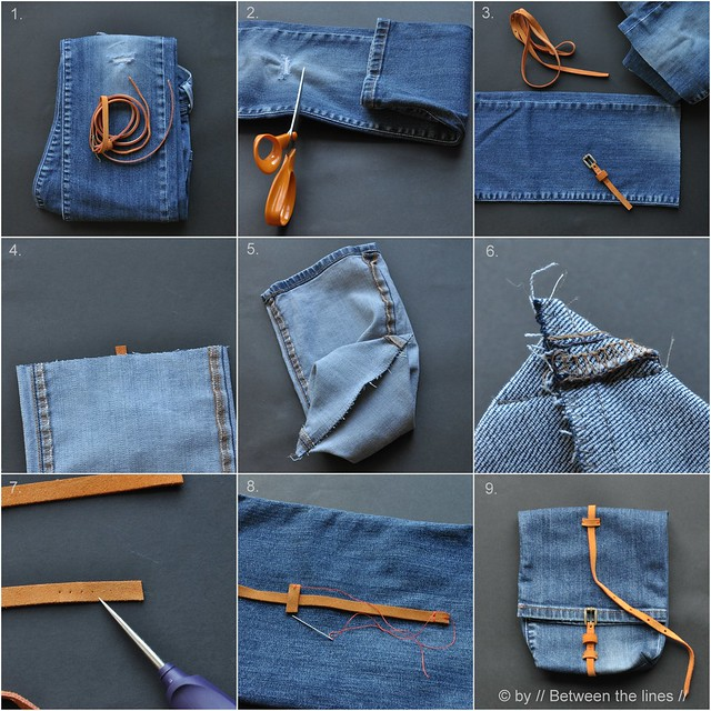 // Between the lines // Denim snack bag  a recycling project