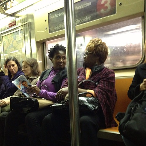 God Moves the World: reader and author #subway