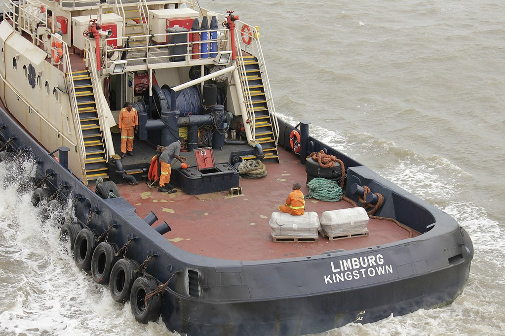 tug boat in the Mozambique channel