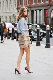 Olivia Palermo Metallic Embellished Shoes Celebrity Style Women's Fashion