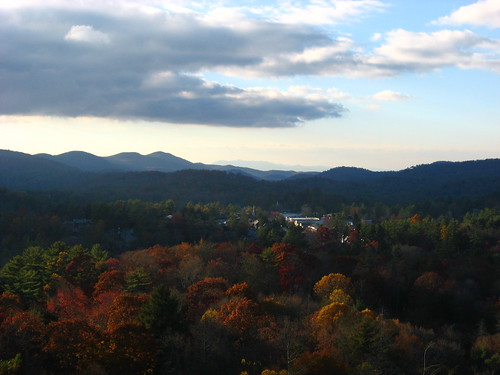 autumn color fall leaves hojas us nc highlands unitedstates wnc lateday sunsetrock