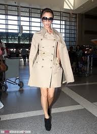 Victoria Beckham Cape Coat Celebrity Style Women's Fashion 1