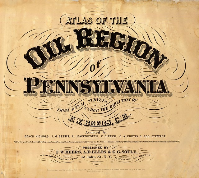 Atlas of the oil region of Pennsylvania 1865