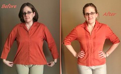 Pin-Tucked Top Before & After