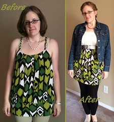 Green Mini Dress Before & After