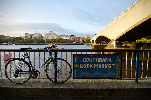 southbank london thames book market