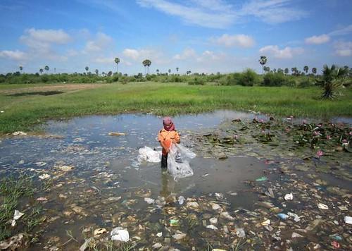 兒童在深及臀部的毒水中尋找可用之物(照片由布萊克史密斯研究所提供)