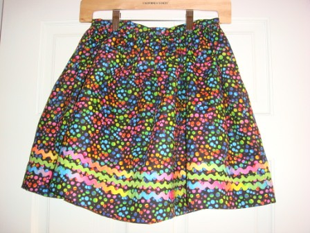 Polka Dot skirt with rick rack