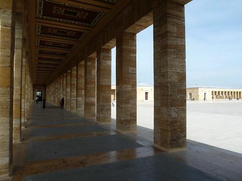 Pillars across the square