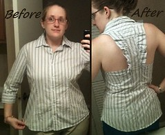 Winged Blouse Before & After
