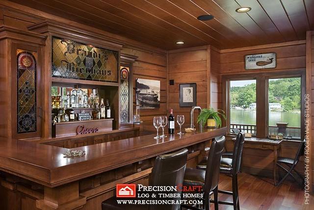 wet bar precision craft log timber homes a photo on