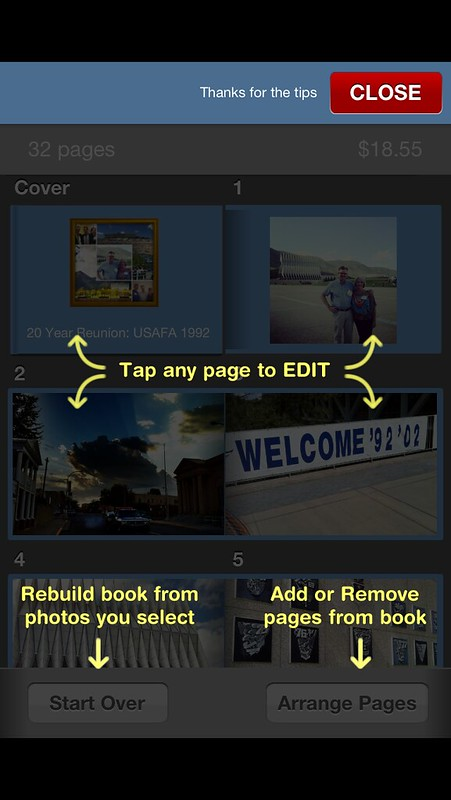 Editing a Keepsy Photo Book on an iPhone