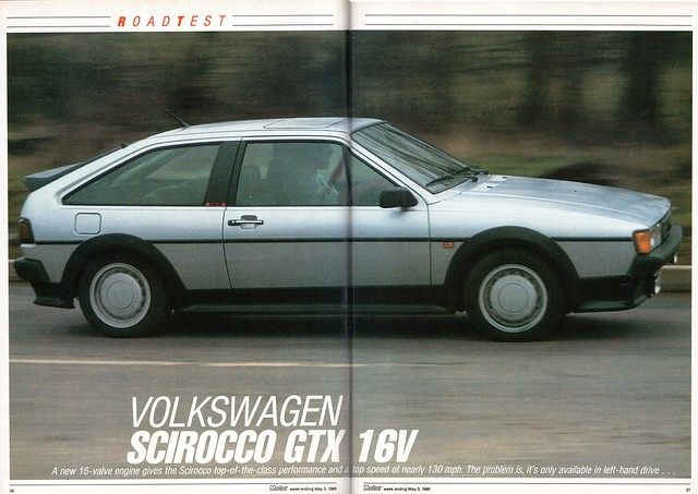 volkswagen scirocco gtx 16v road test 1986 1 a photo. Black Bedroom Furniture Sets. Home Design Ideas