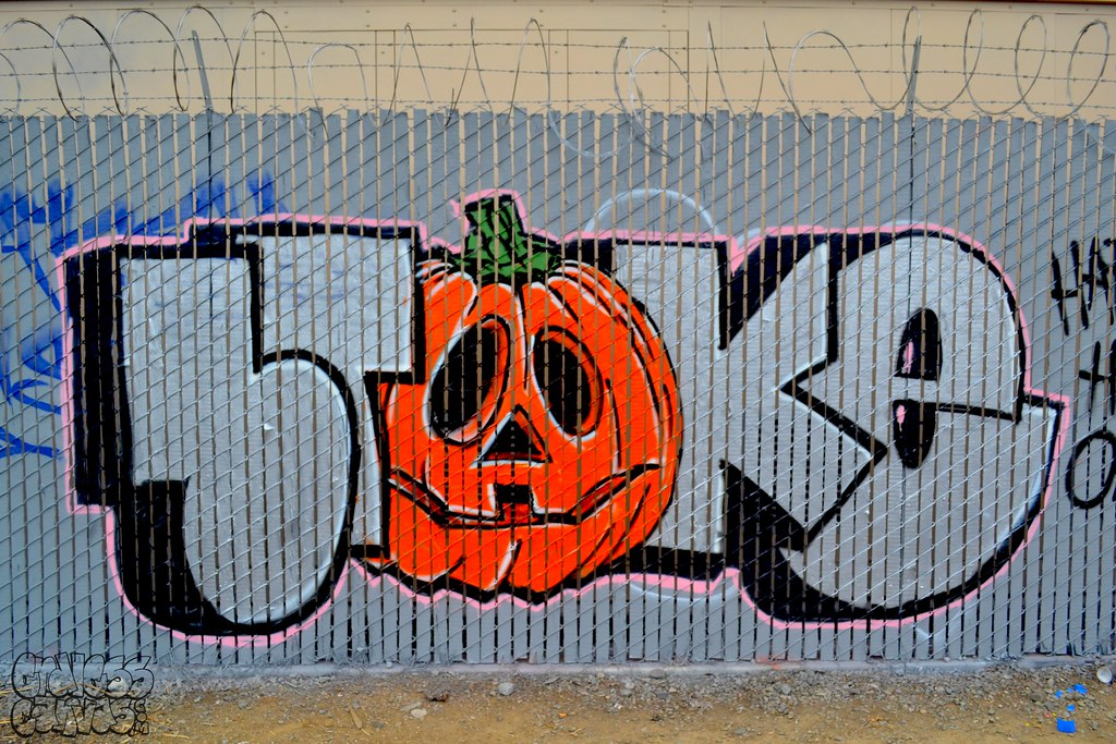 BROKE, PTV, Graffiti, Street Art, Oakland, halloween, Happy Halloween, STM
