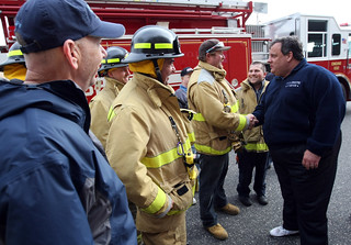 First Responders Greet Gov. Christie