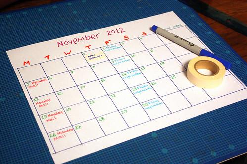 Plans for November