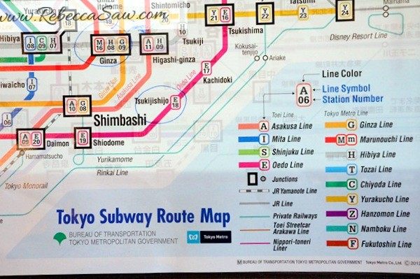 Tokyo Subways and trains map - rebeccasaw