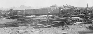View of Halifax, Nova Scotia, from Pier 8, after the disaster of December 6, 1917 / Vue d'Halifax en Nouvelle-Écosse, après le désastre du 6 décembre 1917, prise à partir du quai no 8