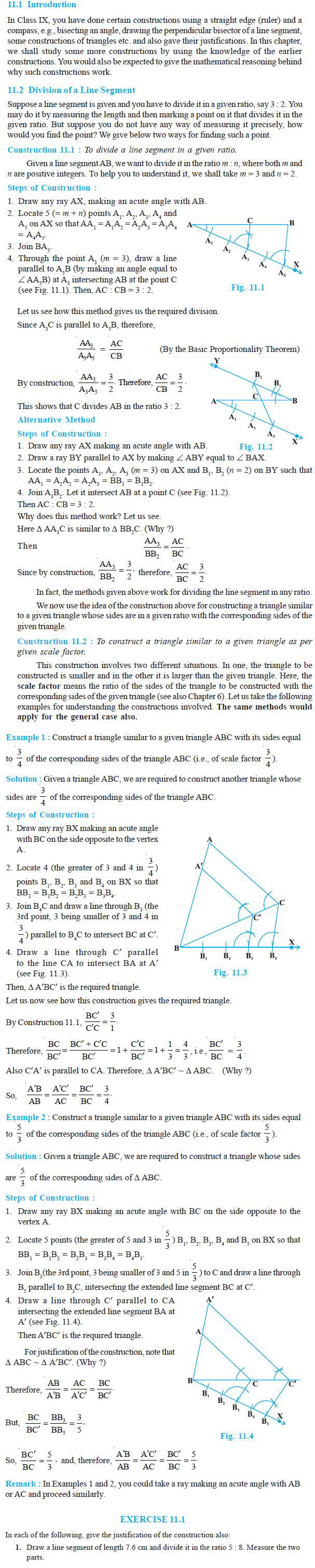 NCERT Class X Maths: Chapter 11 - Constructions