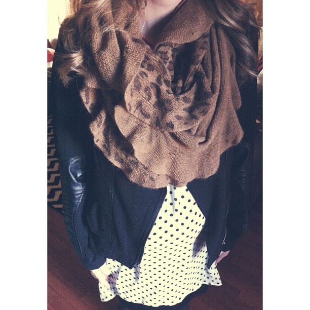 Head to {almost} toe @shopmaude....dress, jacket and scarf. So thankful for @beccabrisiel and the sweetest shop girls! Going to miss my monthly freebies in 2013!