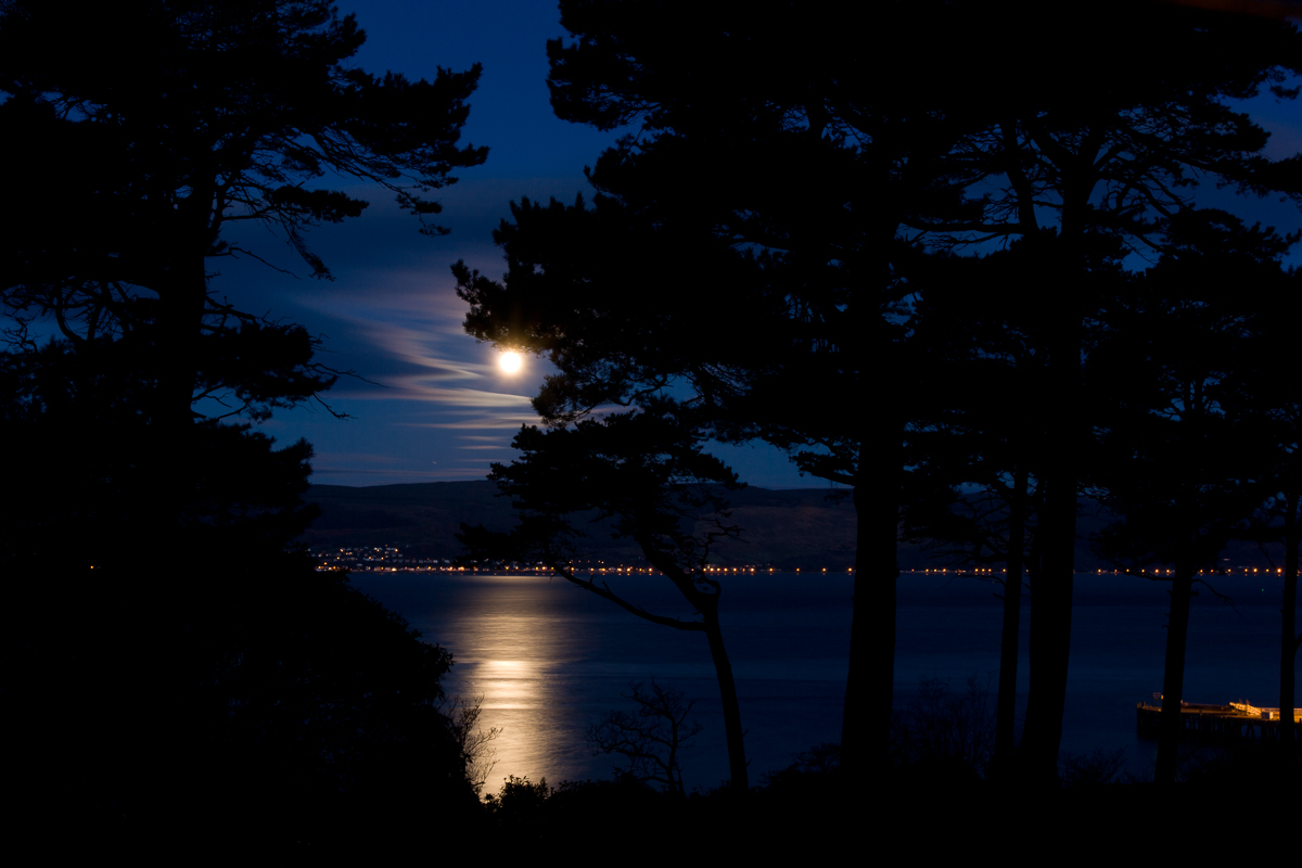 Moon over the Firth of Clyde