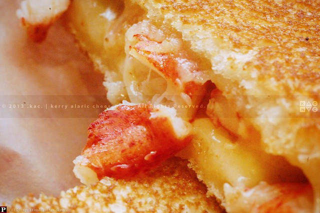 lobster grilled cheese butter toasted grilled gruyere cheese sandwich ...