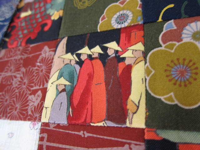 This fabric started my oriental fabric collection - bought in California in 2003