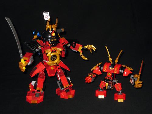 70500 Kai's Fire Mech + Samurai Mech