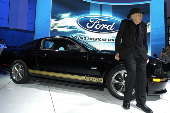 Carroll Shelby with the 2006 Shelby GT-H