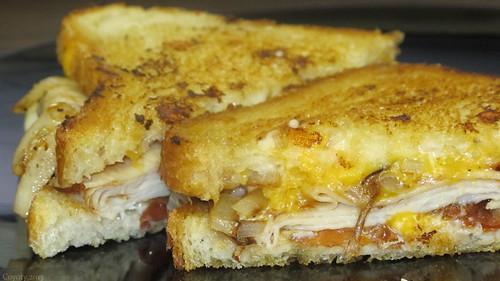 Turkey bacon bleu cheese melt by Coyoty