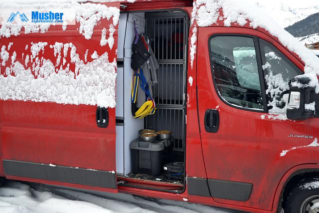 Camionnette de musher tout confort