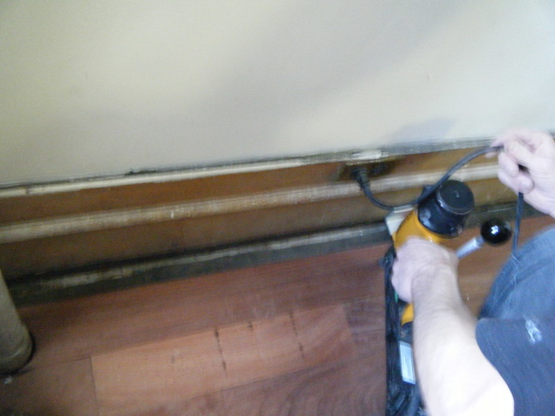 Using a compressed air nail gun