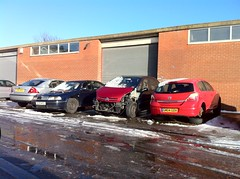 Poorly Cars - Vauxhall Astra 1.6 - SM04 GDV, the remnants of a Citroen Picasso and a Skoda Octavia 1.9 Tdi - SC05 MTZ