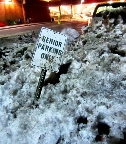 senior parking only