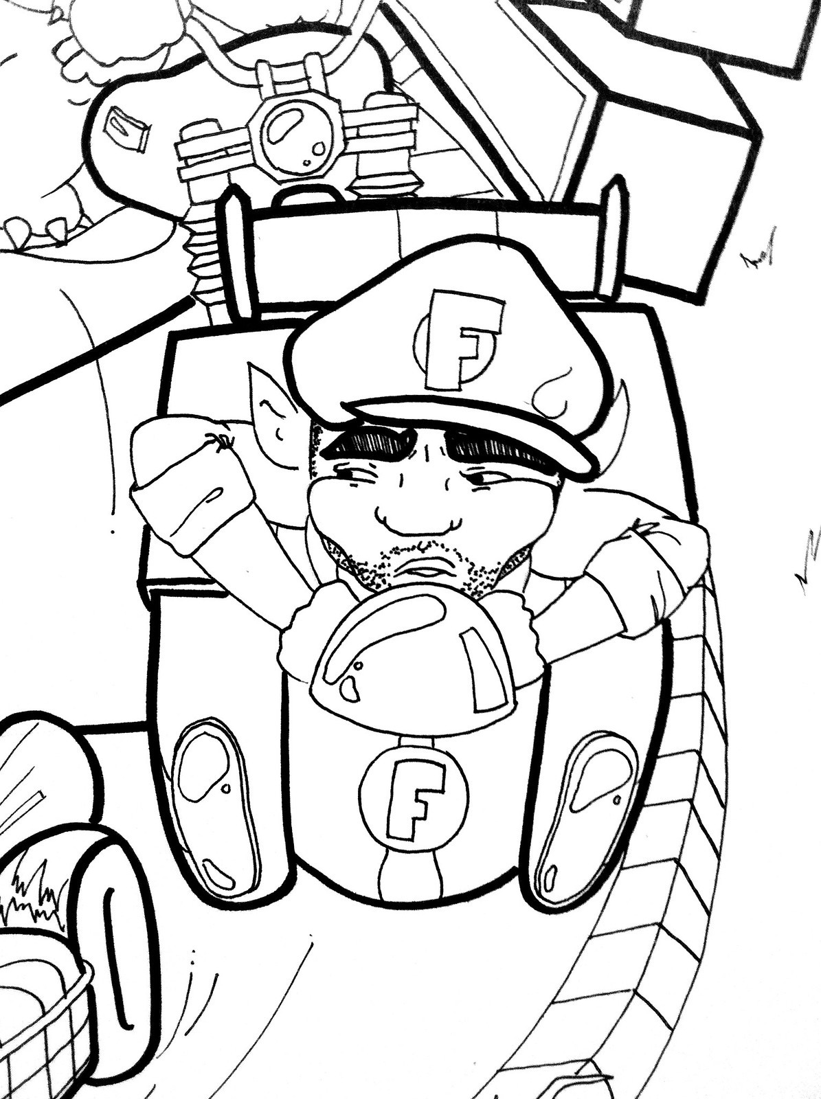 wario coloring pages - photo#36