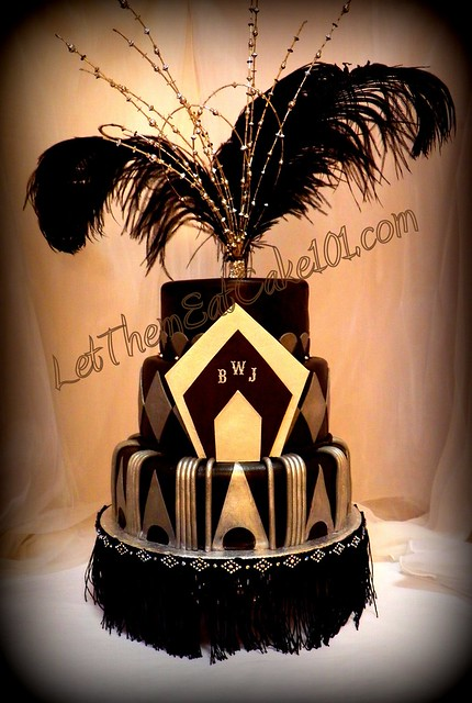 Art Deco Sheet Cake : Art Deco Great Gatsby Cake Flickr - Photo Sharing!