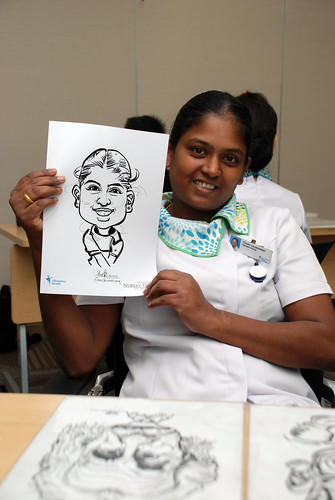 caricature live sketching for Khoo Teck Puat Hospital, Nurses' Day - 9