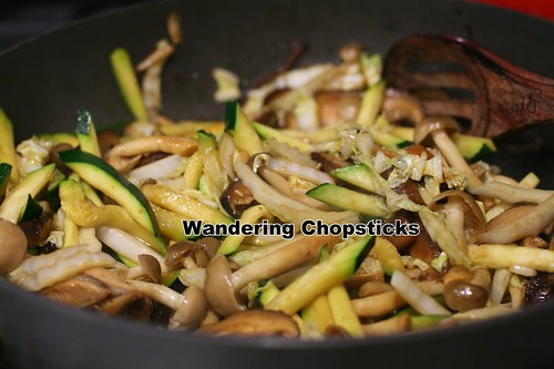 Sea Bass with Mushroom, Cabbage, and Zucchini Stir-Fry 7