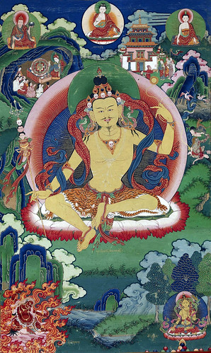 014-Bhutanese painted thanka of Guru Nyima Ozer, late 19th century, Do Khachu Gonpa, Chukka, Bhutan-Wikimedia Commons