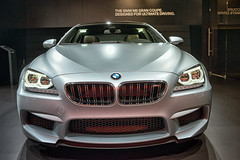 sport utility vehicle(0.0), wheel(0.0), bmw x6(0.0), automobile(1.0), automotive exterior(1.0), vehicle(1.0), performance car(1.0), automotive design(1.0), sports sedan(1.0), bmw m6(1.0), auto show(1.0), grille(1.0), bmw 6 series(1.0), bumper(1.0), personal luxury car(1.0), land vehicle(1.0), luxury vehicle(1.0),